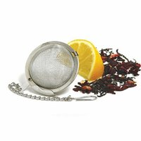 Wholesale Tea Infusers Mesh Ball Wholesale - 5cm Stainless Steel Tea Infusers Ball Mesh Tea Interval Diffuser Food Grade Make Tea Bag Filter Sphere Locking Strainer