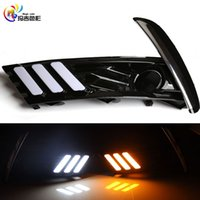 Wholesale Toyota Corolla Led Drl - Manufacture Direct Sale LED Daytime Running Light DRL Drving Day light With Turn Signal White Amber for Toyota Corolla 2017