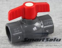 Wholesale high water switch - DN20 PVC ball valve simple ball valve high quality UPVC plastic valve water pipe switch gray