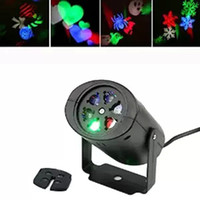 Wholesale Led For Moving - RGBW laser light Glory Shine snowflake 3w LED Projector Light indoor laser lights auto-moving Light for Kids Christmas Holloween Decoration