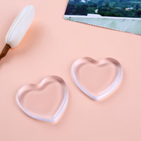Wholesale Transparent Make Up - New Make up Puff Jelly Silisponge Powder Heart Love Transparent Silicone Gel Sponge Puff Face Foundation Cosmetic Makeup 2017
