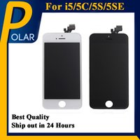 Wholesale Wholesale Cell Phones Lcd Screens - Grade AAA+ For Iphone 5S 5C 5SE LCD Screen Panels LCD Screen and Digitizer Display Assembly with Frame Repair Cell Phone Touch Panels