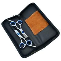 cabeleireiros tesouras venda por atacado-6.0 polegada VS corte de cabelo tesoura de desbaste tesouras de barbeiro tesoura conjunto JP440C tesouras de cabelo com saco de cabeleireiro, LZS0115