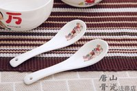 Wholesale Ceramic Baby Spoons - Wholesale- Bone china, chinese rice scoop spoon, korean ice cream ladle, cute cartoon spoon, for rice and soup, baby spoons, chinese spoon