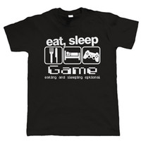 Wholesale Red Eat - Eat Sleep Game New Fashion Men's T-shirts Short Sleeve Tshirt Cotton O Neck T-shirts Man Clothing Free Shipping