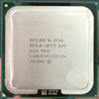 Wholesale intel core lga 775 resale online - Original used cpu Core Quad Q9500 CPU Processor Ghz M GHz Socket Desktop CPU working