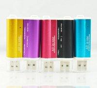ingrosso ms pro card reader-Multi All in 1 Adattatore per lettore di schede di memoria Micro USB 2.0 per Micro SD SDHC TF M2 MMC MS PRO DUO Card Reader