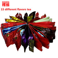 Wholesale flower milk - C-WL055 Promotion 15 Different flavors Tea Chinese Oolong\PuEr\Black\Green\Milk Oolong\Ginseng\flower\Buckwheat\Liver Tea