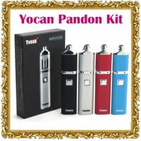 Hot Authentique Yocan Pandon Kit Quad cire stylo E Cigs 1300mAh batterie 4 bobines kits 2 QDC Voltage réglable Yocan Evolve bobine Comptable