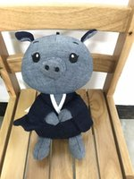 Wholesale Small Pig Plush - Stuffed Animal Small Pig Handmade Denim Plush Animal Pig Cute Environmental Demin Fabric Filling Plush Material