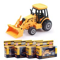 Wholesale Crane Plastics - 1:64 Alloy Toy Car Engineering Vehicle Model Forklift Excavator Crane Transporter Dump Truck Digging Car Frorklift Hot Toys Wholesale