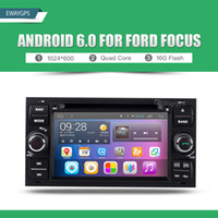 Wholesale Dvd Player For Ford Fiesta - Android 6.0 Quad Core Car DVD Player Stereo gps navigation For Ford Mondeo Focus S-max C-max Galaxy Fiesta Fusion Kuga EW851P6QH