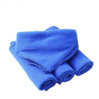 чистка мягкой ткани оптовых-Wholesale- 5Pcs Blue Soft Absorbent Wash Cloth Car Auto Care Microfiber Cleaning Towels ja13