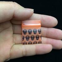 padrão de saco de zíper venda por atacado-Pequeno 2.5 * 3 CM 100 Pçs / lote Padronizado Mini Limpar Resealable Zip Bloqueio PE sacos de plástico, Auto-selado poli zíper bolsa