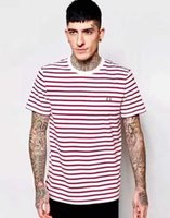 Wholesale England Tshirt - Brand Gift 2017 New Mens Fred Brit Striped T-shirts Summer London Fashion Casual T-shirt Hot Male Tshirt England Tees S-XL