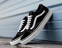 Wholesale Lace Fabric Brands - Classic Old Skool Low Cut Casual Canvas Shoes Classical White Black Brand Women And Mens Sneakers Skateboarding Shoes Spring Autumn