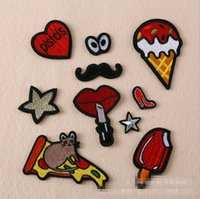 Wholesale chinese mixed clothes online - Mixed set Patch Applique For Jeans Clothes Iron On DIY Garment Hats Accessories Clothes Decoration Sew On Patches