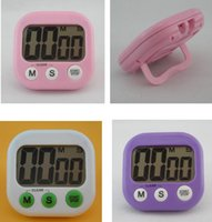Wholesale Digital Count Up Display - Digital Kitchen Timers Digital LCD Display Kitchen Cooking Timer Count-Down Up Clock Loud Alarm 6 color KKA1600