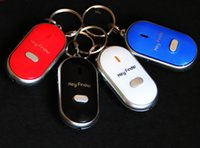 50pcs Smart Finder Key Locator Anti-Lost Keys Chain Keychain Whistle Sound Control со светодиодной подсветкой