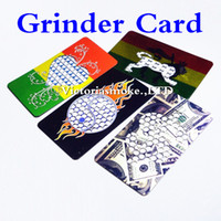 Wholesale Free Cards Design - DHL Free Good Quality Fast Shipping Low Price Fashion stainless steel Credit Card Grinder Many Designs Grinder Machine for Herb