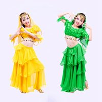Wholesale Indian Hot Belly - Hot Sale Kids Belly Dance Costume Indian Dance Dancewear Children Bellydance Costume Danca Do Ventre UD0059