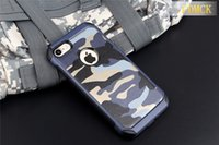 Wholesale Iphone Blue Rear Case - Case For iPhone 7Plus 2in1 Armor Hybrid Plastic+TPU Army Camo Camouflage Rear with Special Shockproof Angle Phone Cover for iPhone 7