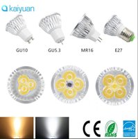 Wholesale Led Mr16 Dc 3w - BEST quality Dimmable LED Spotlight CREE Lamp 3W 4W 5W GU10 MR16 E27 E14 GU5.3 B22 Led spot Light 85-265v dc 12v bulbs downlight lighting