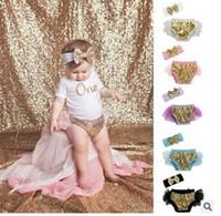 Wholesale Boy Short Sequins - Infants shorts Baby boys girls cotton sequins splicing falbala mesh gauze PP shorts with sequins bows headbands Newborn cute clothes C1675