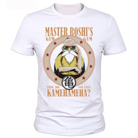 Wholesale Dragonball Z Cosplay - Wholesale- Turtle fairy T-shirt Costume gratuit Sipping T shirt Anime Dragonball Z DBZ symbole Goku Cosplay Costume marque t-shirt
