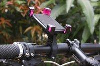Wholesale Bicycle Bracket - Bicycle Handlebar Clip Mount Bracket 360 degree rotation Mobile Phone Bike Holder Stand For iPhone 6 6plus 7 8 For Samsung