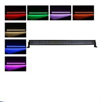 "Wholesale Green Atv Light Bar - 240w 42"" Straight offroad 4D creeleds light bar w  RGB Green Red Blue halo Ring kit Strip Fog Driving Wrangler Atv Truck toyota"