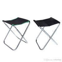 Vente en gros - Green / Black Portable Camping pliante en aluminium Oxford en tissu de chaise Outdoor Patio Fishing Camping avec sac de transport H10203