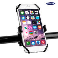 Wholesale bike support stand - 2017 New Universal Cellphone Bike Mount Holder Bicycle Stand Holders Phone Holder With Silicone Support Band For Iphone 7 Plus Samsung S8