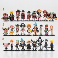 Wholesale one piece anime set - 9pcs set Anime Movie One Piece Ace luffy chooper Familys PVC Action Figure Toys One Piece figures