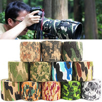 Wholesale Self adhesive Protective Camouflage Tape Wrap M Tactical Camo Form Multi functional Non woven Fabric Stealth Tape Stretch Bandage