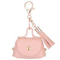 Wholesale Leather Keychain Purse - Fashion PU Leather Keychain Mini Coin Purse Key Ring Tassels Wallet Women Handbag Charm sleutelhanger pendant Key Chain