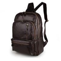 Wholesale Leather Cowboy Bags - 2017 New Arrival 100% Classic Leather Travel Bags Cowboy Genuine Leather Men's Trendy PC Backpacks Shoulder Bag 7313