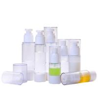 ingrosso olii pompa in plastica-15 30 50 80 100 ML Clear Vacuum Bottle Vuota Plastic Airless Pump Spray Transparent Cosmetic Cream Profumo Bottiglia di olio essenziale per contenitori