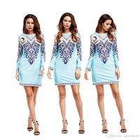 Wholesale Round Neck Long Sleeve Mini - best price good looking chich style round neck long sleeve autumn mini dress for mature women