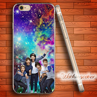 Wholesale One Direction Iphone Cases - Capa One Direction Nebula Skull Soft Clear TPU Case for iPhone 6 6S 7 Plus 5S SE 5 5C 4S 4 Case Silicone Cover.