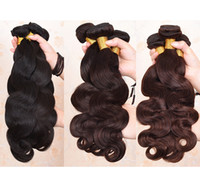 Wholesale Indian Hair Best Quality - Brazilian Body Wave Hair Weaves Best Quality Virgin Human Hair Extensions Peruvian Malaysian Indian Cambodian Brazilian Human Hair Weaves