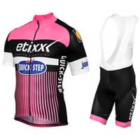 Wholesale Quick Step Bib - 2017 ETIXX Quick Step Cycling Jersey Short Sleeve shirt Bib Shorts set Bicycle Jersey Men MTB Bike Fitness Ropa Ciclismo C2207