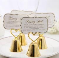 decorações de sinos venda por atacado-Lindo Ouro e Prata Beijando Bell