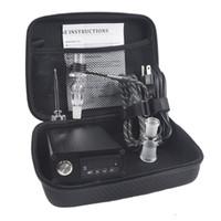 elektrischer nagelkit großhandel-Banger E Quarznagel Elektrotauchnagel Box Kit Quarznagel Carb Cap 14 18 MM Männlich Temperaturregler Rig glas Bongs