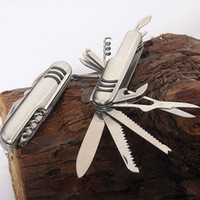 Wholesale Wholesale Damascus Steel Folding Knife - AAA+++ Spot Wholesale Micro Technology 11 kinds of open multi-function portable stainless steel gift folding knife outdoor camping tool tool
