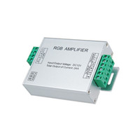kontrol girişi toptan satış-Led RGB Amplifikatör Kontrol Cihazı Giriş dc 5 v 12 V 24 V 24A Sinyal Tekrarlayıcı 120 w 288 w 576 W için 3528/5050 RGB Led Şerit Alüminyum Kutu