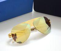 Wholesale Screw Shield - new mykita sunglasses ultralight frame without screws Franz pilot frame flap top men brand designer sunglasses coating mirror lens