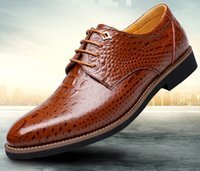 Wholesale 2017 spring new men s crocodile pattern business suits leather men s shoes lace with casual men s shoes