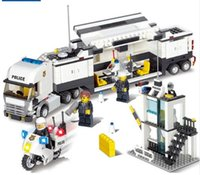 Wholesale Toy Police Stations - 6727 Police Station Building Blocks Bricks Educational Toys Compatible with all brand city Birthday Gift Toy Brinquedos