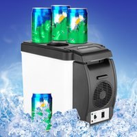 Wholesale Mini Refrigerator Portable Car Fridge - Wholesale-12V 6L Car Mini Fridge Portable Thermoelectric Cooler Warmer Travel Refrigerator Top Quality ABS Oct 12